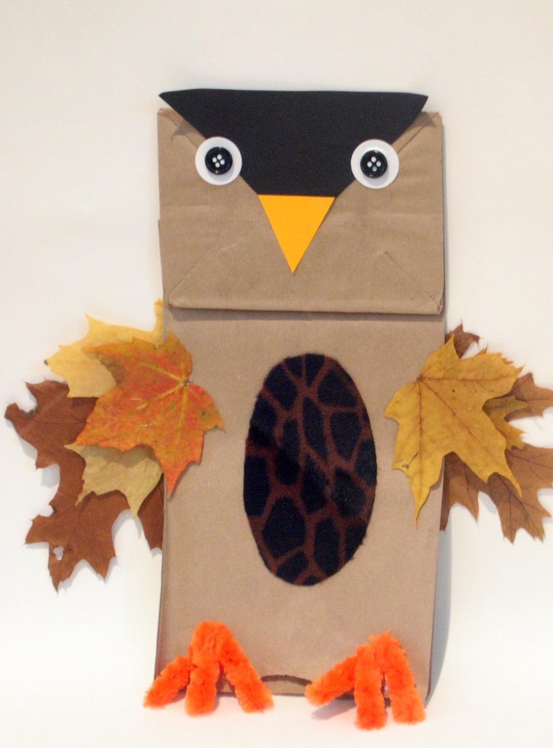 Glitter Mommies Easy Fall Owl Craft