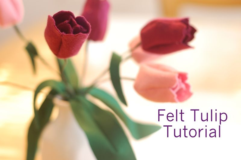 Felt Tulips Tutorial