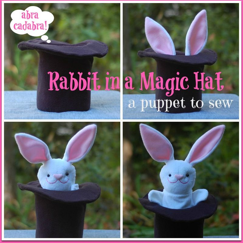 Rabbit in a hat collage