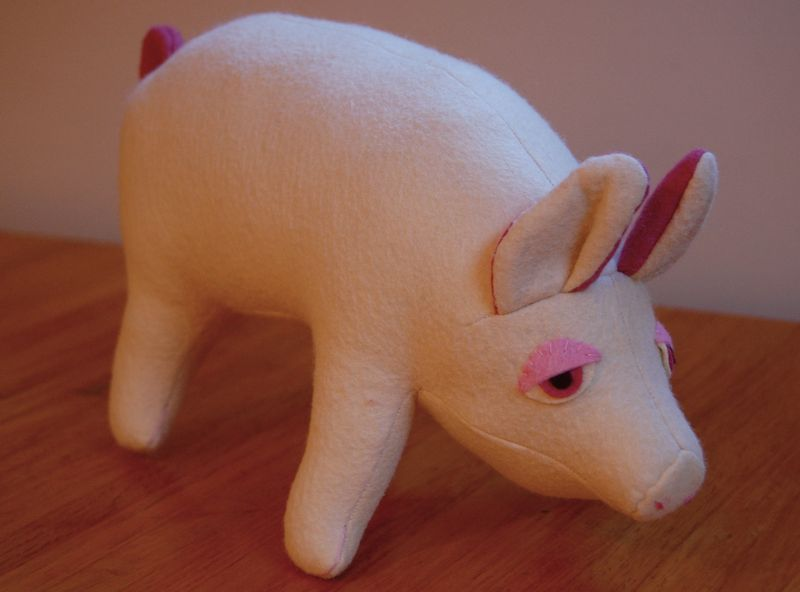 Pig pattern by Carolyn Vosburg Hall