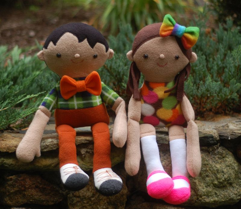 Dolls in bow ties