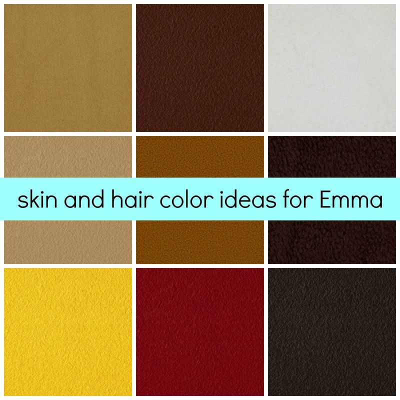 Emma's Skin and Hair Options