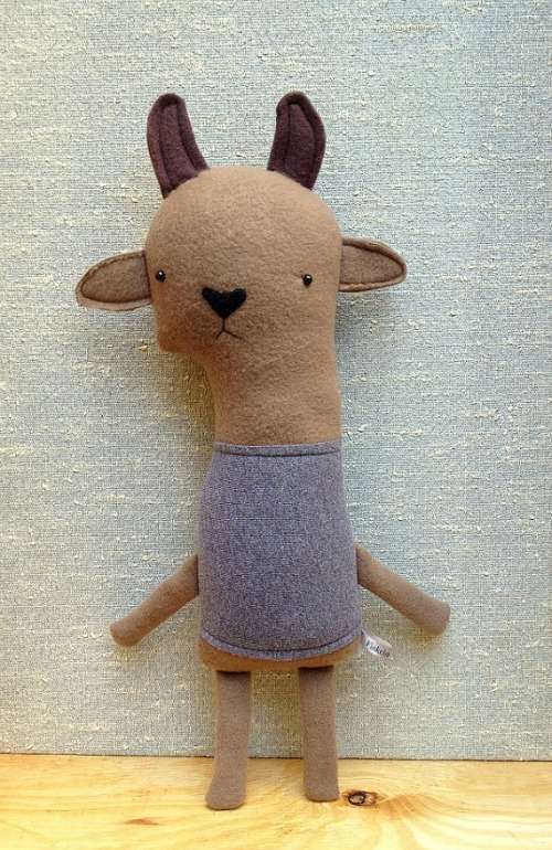 Plush goat by michelle jewell