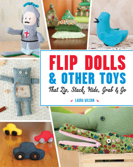 Cover Flip Dolls and Other Toys that Zip Stack Hide Grab and Go