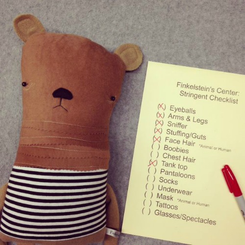 Bear with checklist