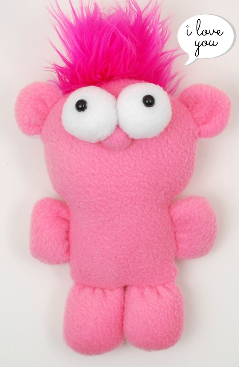 Cute Pink Plush Guy
