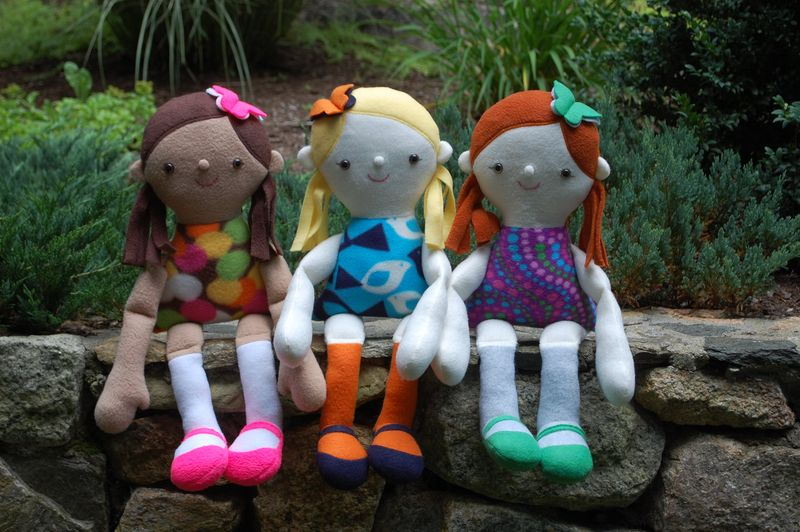 Three girl dolls