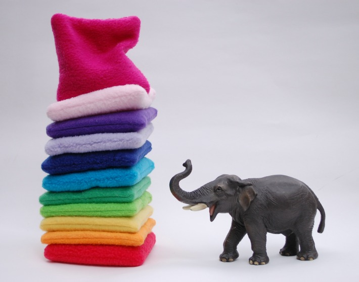 Rainbow Beanbags with Elephant